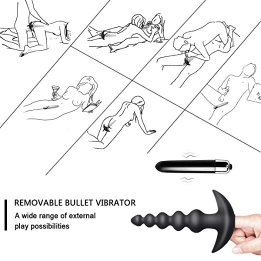 Vibrating Anal Beads Butt Plug