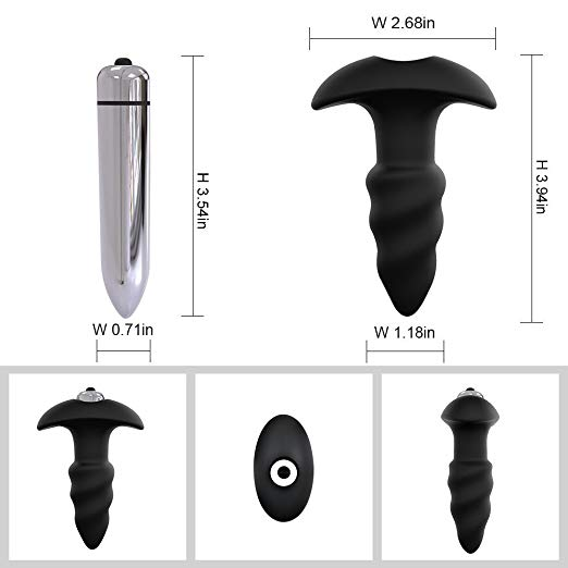 Vibrating Butt Plug Silicone Waterproof