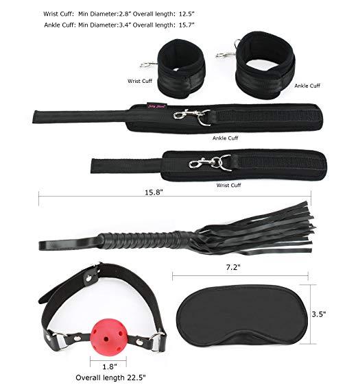 Extreme 11 Piece Restraints Restraint Blindfold